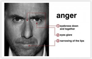 Anger emotion signs of aggression