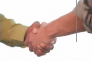 handshake controlling submissive and dominant behavior